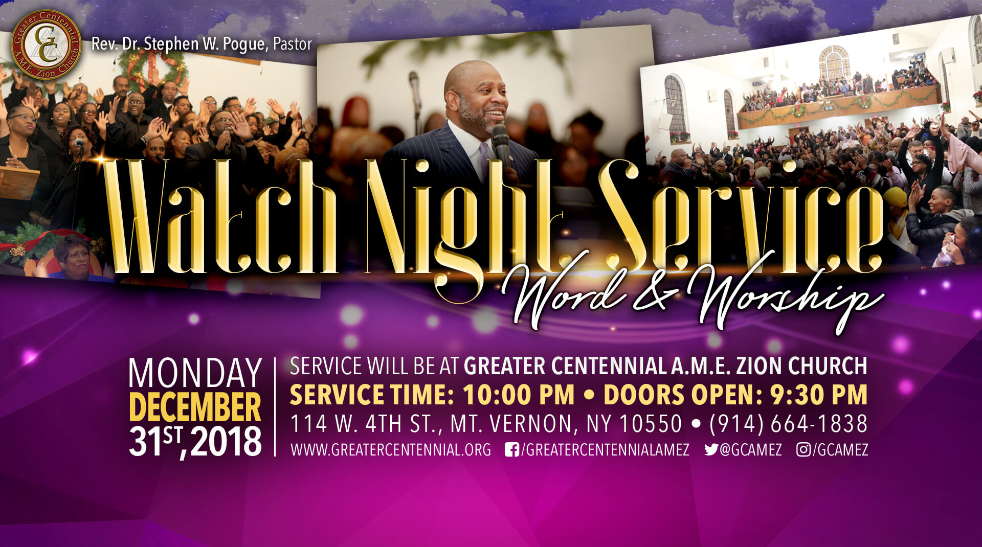 Greater Centennial A.M.E. Watch Night 2018