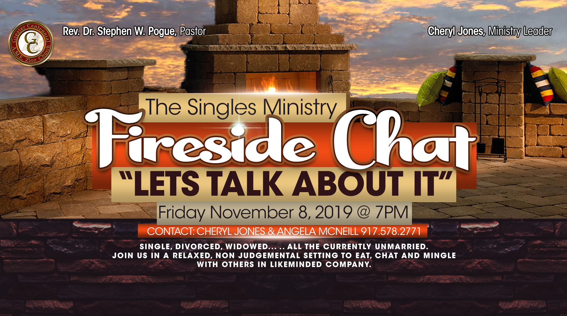 Singles Ministry Fireside Chat